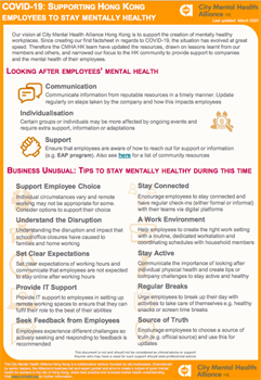 Supporting Employees to Stay Mentally Healthy - English Version